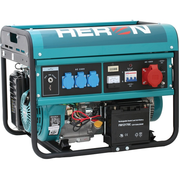 HERON Benzinmotoros háromfázisú áramfejlesztő, generátor aggregát EGM-60 AVR-3E