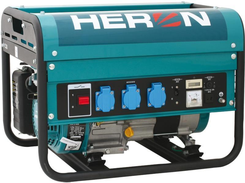 HERON EGM-25 AVR benzinmotoros áramfejlesztő, aggregátor