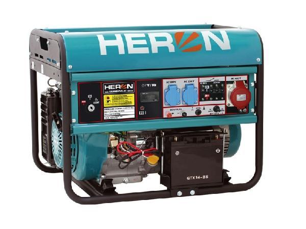 HERON Benzinmotoros háromfázisú áramfejlesztő, generátor aggregát EGM-68 AVR-3E