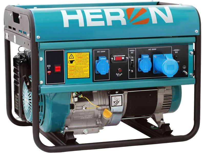HERON Benzinmotoros egyfázisú áramfejlesztő aggregát, generátor EGM-68 AVR-1E