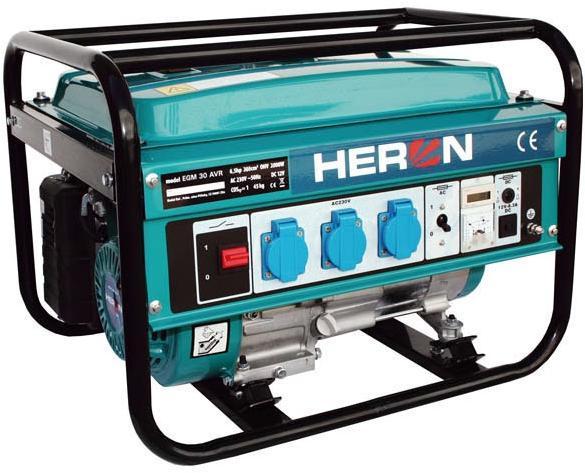 HERON EGM 30 AVR Benzinmotoros áramfejlesztő, aggregátor