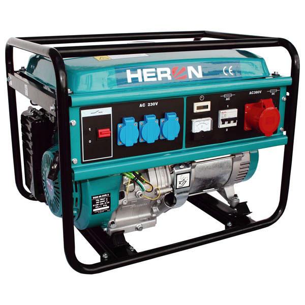 HERON Benzinmotoros háromfázisú áramfejlesztő, aggregát, generátor EGM-60 AVR-3