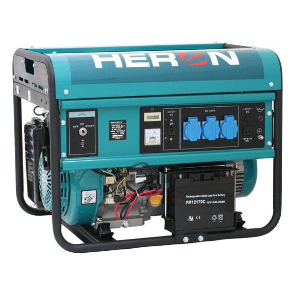 HERON Benzinmotoros egyfázisú áramfejlesztő, generátor aggregát EGM 55 AVR-1E