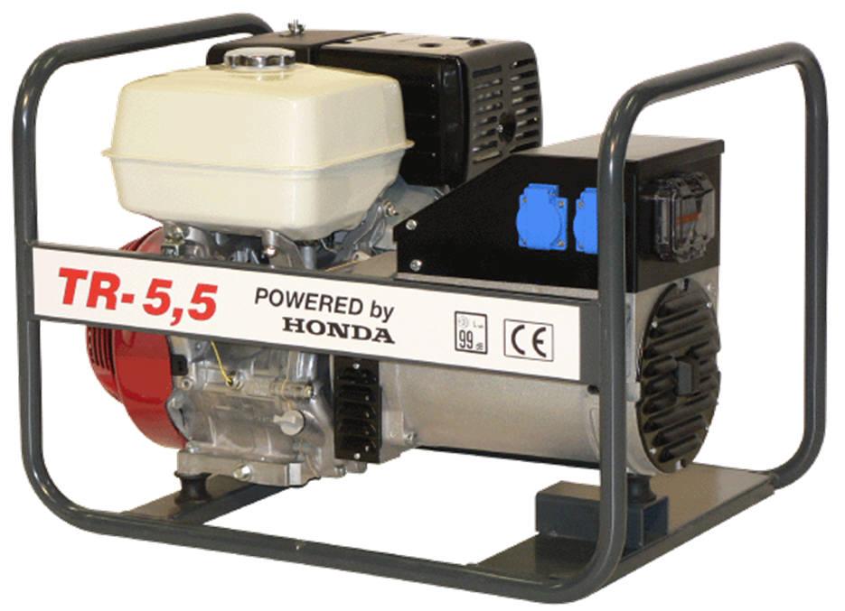 Honda benzinmotoros áramfejlesztő generátor aggregát 3F: 5,5 kVA, 1F:4 kVA, TR-5,5