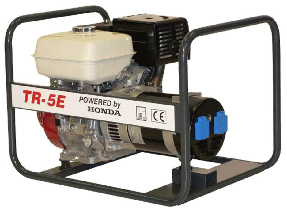 Honda benzinmotoros áramfejlesztő generátor, aggregát 1Fázis 5 kVA, TR-5E