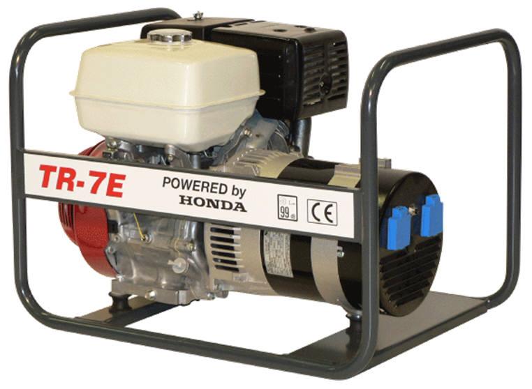 Honda benzinmotoros áramfejlesztő generátor aggregát 1Fázis 7 kVA, TR-7E