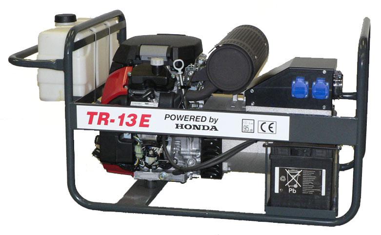 Honda benzinmotoros áramfejlesztő generátor aggregát 1Fázis 13 kVA, TR-13E