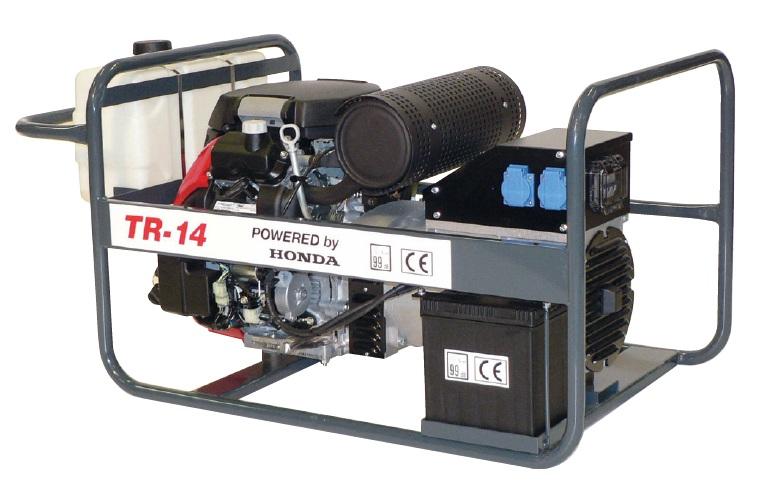 Honda benzinmotoros áramfejlesztő generátor aggregát 3F:14 kVA, 1F: 3x4,5 kVA, TR-14