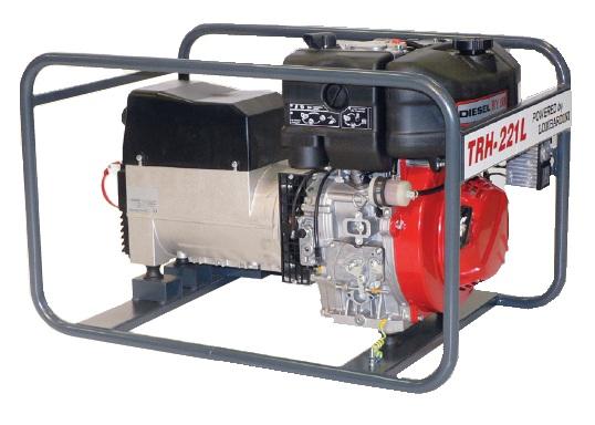 Kohler benzinmotoros TRH-221 K áramfejlesztõ, 1 fázis - 3,5kVA, 3 fázis - 6,5 kVA