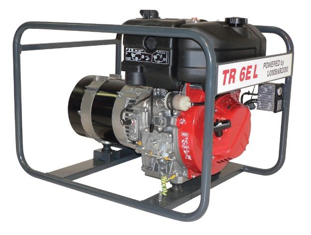 Lombardini dízelmotoros TR-6E L áramfejlesztõ, 1 fázis 6 kVA
