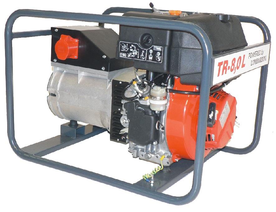 Lombardini dízelmotoros TR-8 L áramfejlesztõ, 1 fázis 4 kVA, 3 fázis 8 kVA