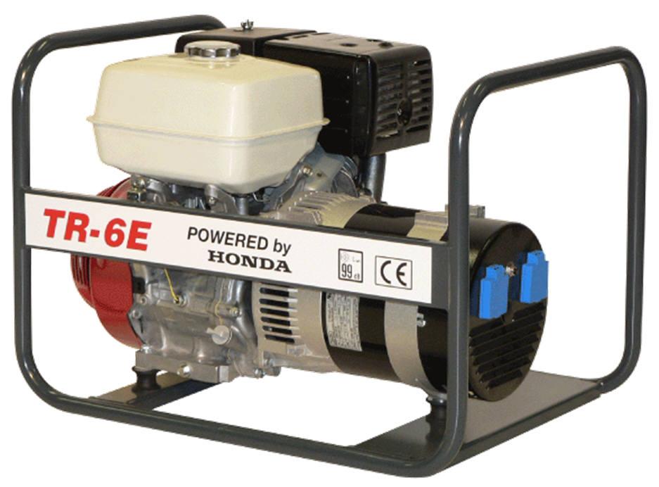 Honda benzinmotoros TR-6E áramfejlesztõ, 1 fázis 6 kVA