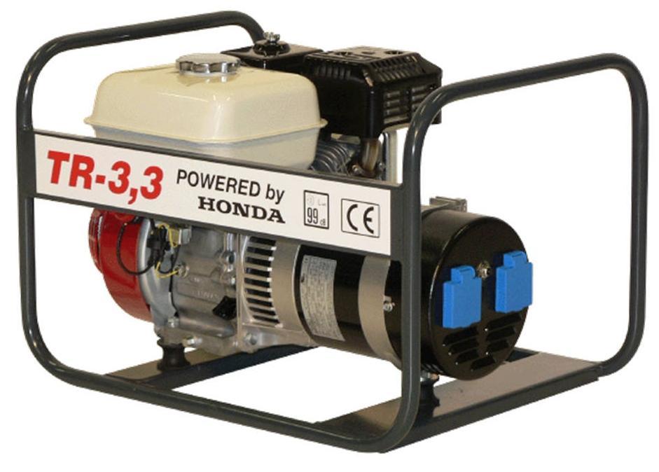 Honda benzinmotoros áramfejlesztő generátor aggregát 1Fázis 3,3 kVA, TR-3,3