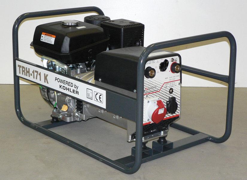 Kohler benzinmotoros TRH-171 K áramfejlesztõ, 1 fázis 3,5 kVA, 3 fázis 5,5 kVA