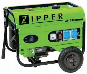 Zipper benzinmotoros háromfázisú áramfejlesztő, generátor aggregát ZI-STE3000