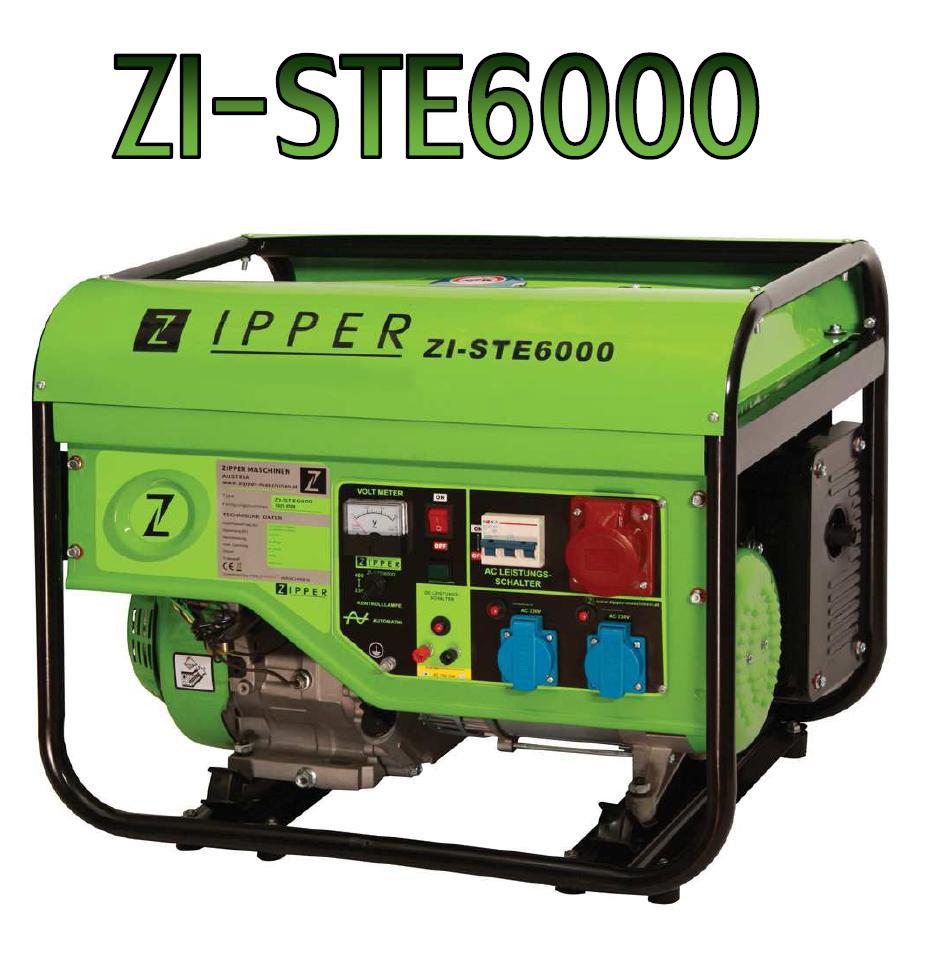 Zipper ZI-STE6000 áramfejlesztő, aggregátor