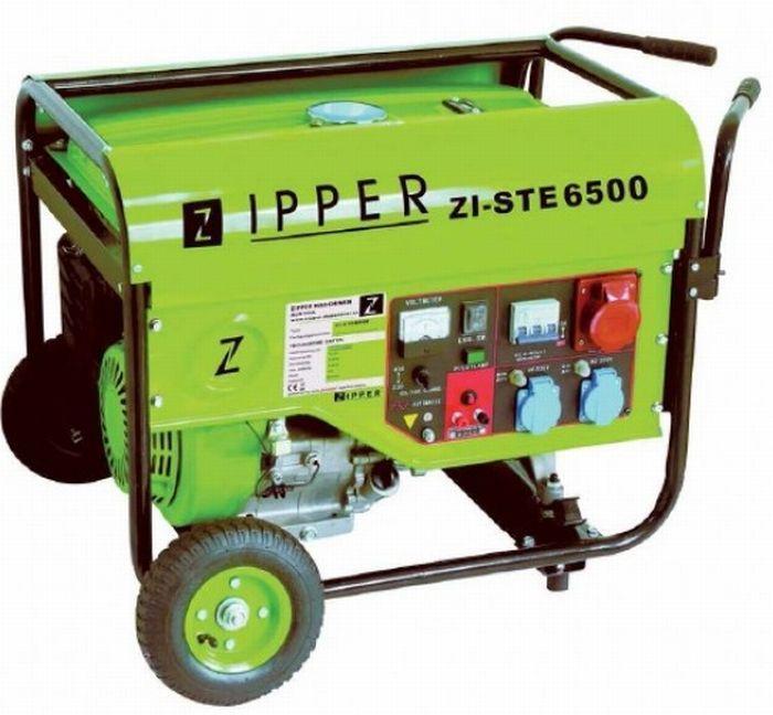 Zipper benzinmotoros háromfázisú áramfejlesztő, generátor aggregát ZI-STE6500