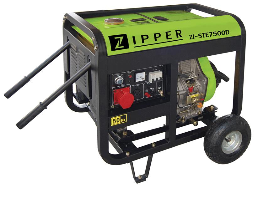 Zipper dízelmotoros háromfázisú áramfejlesztő, generátor aggregát ZI-STE7500D